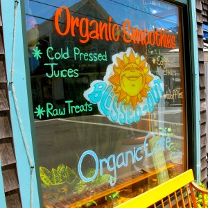 Organic smoothies at Blissed-Out Cafe on Martha's Vineyard