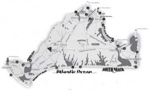 Marthas Vineyard beach map