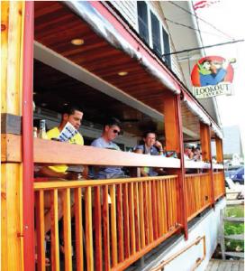 Lookout Tavern deck, Oak Bluffs