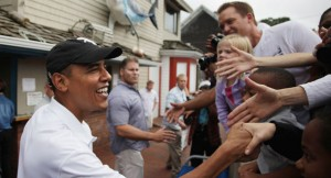 President Obama greets well wishers on Martha's Vineyard