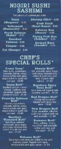 Seafood Shanty raw bar menu