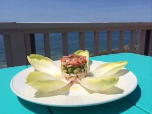 Layered lobster salad, Aquinnah Shop Restaurant