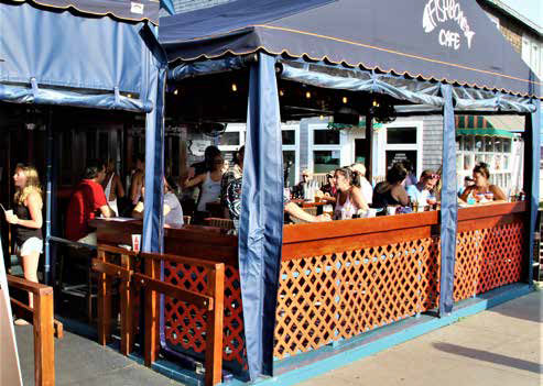 Fishbones Bar & Grille in Oak Bluffs, exterior